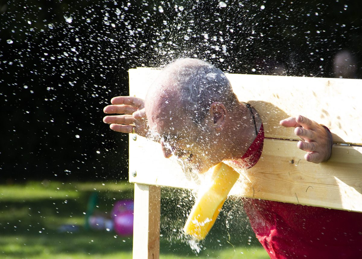 Sun, fun and a soaking for some at the Principals summer bash!